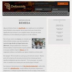 Definición de remesa