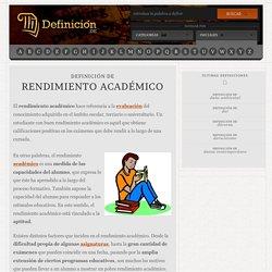 Definición de rendimiento académico
