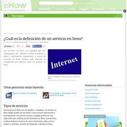 ¿Cuál es la definición de un servicio en línea?