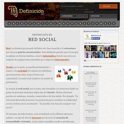 Definición de red social