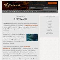 Definición de software