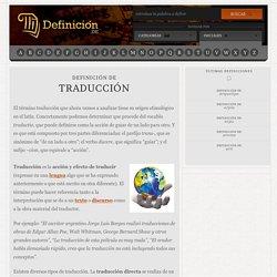 Definición de traducción