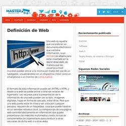 Definición de Web - Significado y definición de Web
