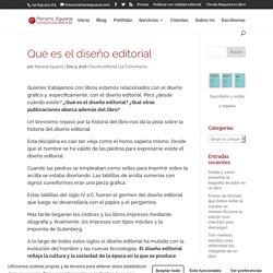 Qué es el diseño editorial: definiciones y publicaciones que aborda