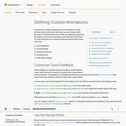 Defining Custom Animations
