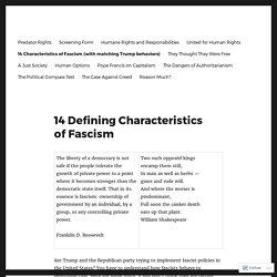 14 Defining Characteristics of Fascism