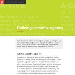 Defining a creative agency
