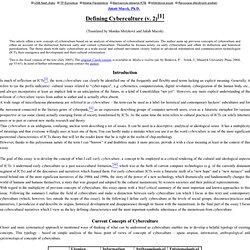 Defining Cyberculture