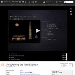 (Re-)Defining the Public Domain : Carl Malamud