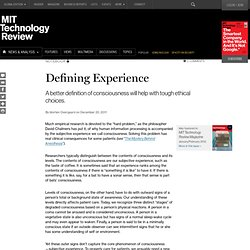 Defining Experience