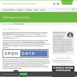 Defining Open Data