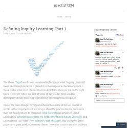 Defining Inquiry Learning: Part 1