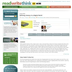Defining Literacy in a Digital World