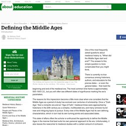 Defining the Middle Ages - Introduction