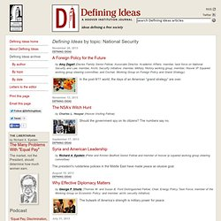 Defining Ideas by topic: National Security