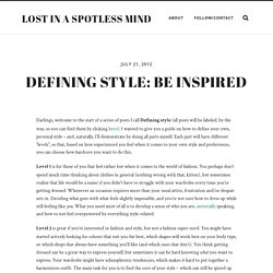 Defining Style: a tool for defining your own, personal style