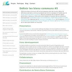 » Définir les biens communs #5