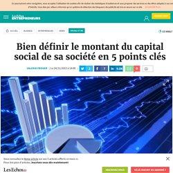 Bien définir le montant du capital social de sa société en 5 points clés, Fiscalité / Protection sociale / Statut