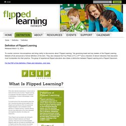The Flipped Learning Network