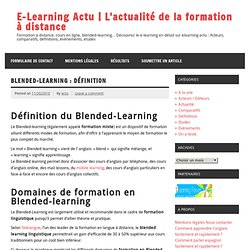 Blended-learning : Définition