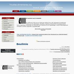 Boulimie - Définition et traitement - Troubles alimentaires.org