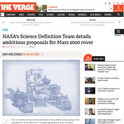 NASA's Science Definition Team details ambitious proposals for Mars 2020 rover