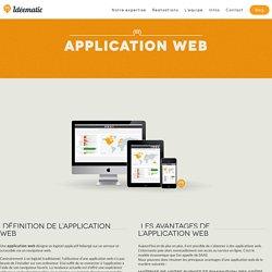 Définition du terme application web et logiciels métiers