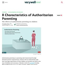 The Definition of Authoritarian Parenting