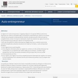 Définition - Auto-entrepreneur