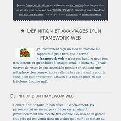 ★ Définition et avantages d'un framework web