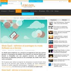 Mode SaaS : définition et avantages du mode Software as a Service