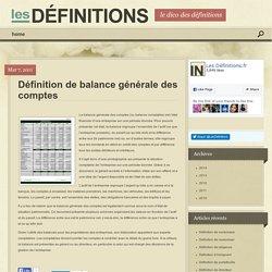 Définition de balance générale des comptes