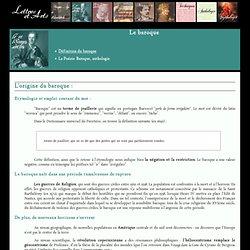 Définition du baroque – Lettres-et-Arts.net