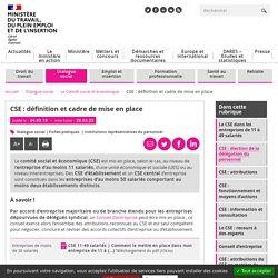 CSE : définition et cadre de mise en place
