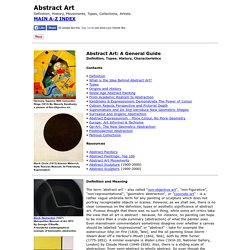 Abstract Art: Definition, History, Types, Characteristics