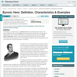 Byronic Hero: Definition, Characteristics & Examples