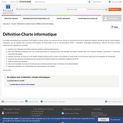 Définition Charte informatique