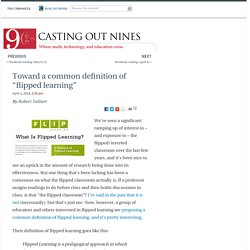 "Toward a common definition of ""flipped learning"" - Casting Out Nines"