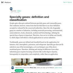 Specialty Gases: Definition And Classification