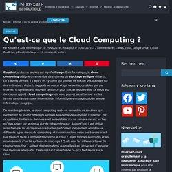 Tout savoir sur le Cloud : définition, comparatif, acteurs, utilité