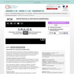 Définition de la notion de compétence - Ecole Normale Supérieure de Lyon