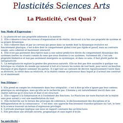 DEFINITION DU CONCEPT DE PLASTICITE