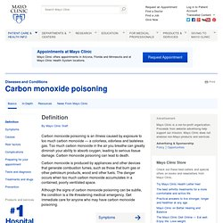 Carbon monoxide poisoning Definition