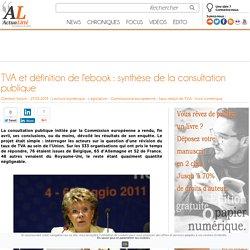 TVA et définition de l'ebook : synthèse de la consultation publique