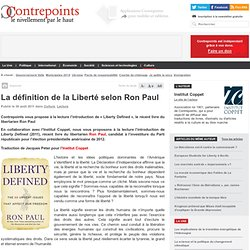 La définition de la Liberté selon Ron Paul
