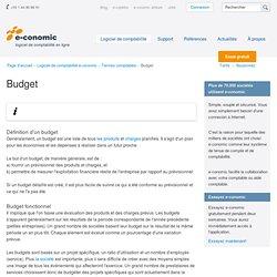Définition d'un budget