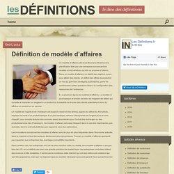 Définition de modèle d'affaires