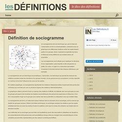Définition de sociogramme