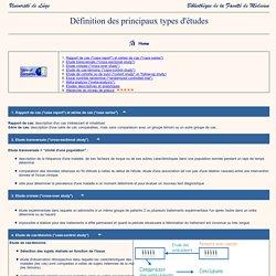 Définition des différents types d'études (ULg)