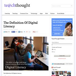 The Definition Of Digital Literacy